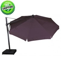 Treasure Garden 11' Octagon Cantilever Umbrella -  AKZ - O'bravia Fabric (Polyester)