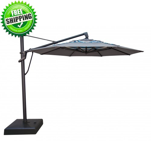 Treasure Garden 11' AKZ Cantilever Umbrella - O'bravia Fabric (Polyester)
