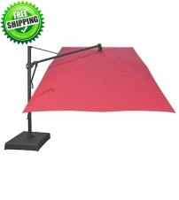 Treasure Garden 10' x 13' Rectangle Cantilever Umbrella -  AKZRT - O'bravia Fabric (Polyester)
