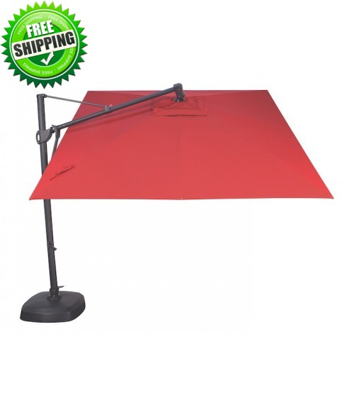 Treasure Garden 10' Octagon AKZ Cantilever Umbrella - O'Bravia Polyester Fabric