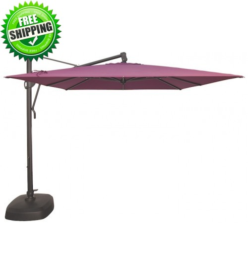 Treasure Garden 10' AKZ Square Cantilever Umbrella - Sunbrella