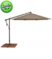Treasure Garden 10' Octagon AG19 Cantilever Umbrella  - O'bravia Polyester Fabric