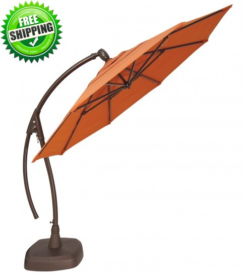 Treasure Garden 11' Octagon Cantilever Umbrella - AG28 - Sunbrella