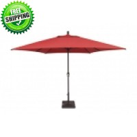 8'x11' Treasure Garden Rectangular Market Umbrella