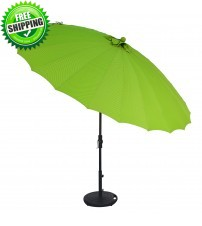 Treasure Garden 10' Shanghai Collar Tilt Round Umbrella