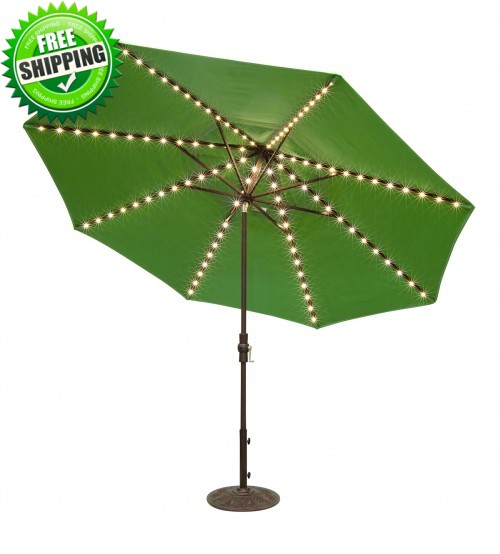 Treasure Garden 11' Starlight Collar Tilt Octagon Umbrella  -  Quick Ship - Double Wind Vent