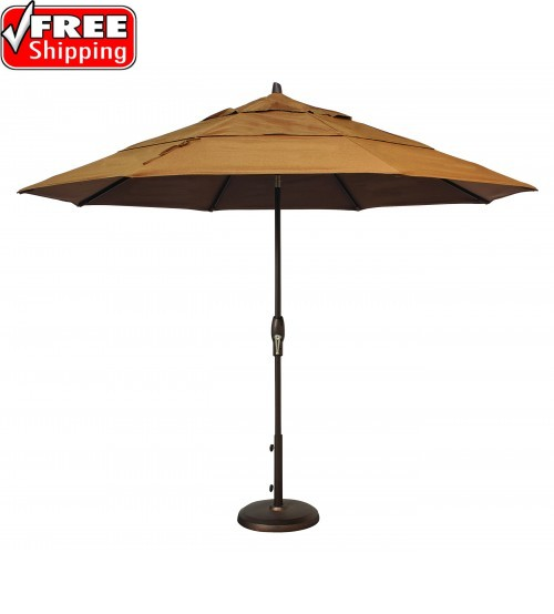Treasure Garden 11' Octagon Market Umbrella Auto Tilt with Double Wind Vent