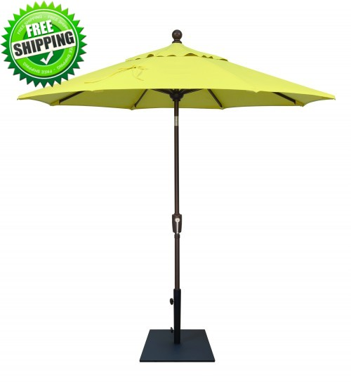 Treasure Garden 7.5' Push Button Tilt Octagon Umbrella