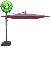 Treasure Garden AKZ 10' Square Cantilever Umbrella Replacement Canopy - Sunbrella