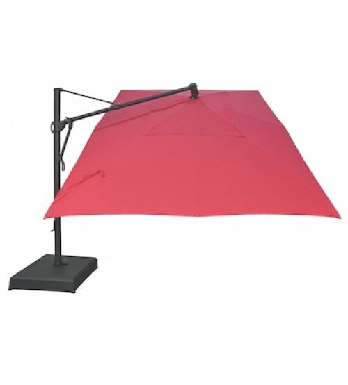 treasure garden 10 x 13 akzrt cantilever umbrella obravia fabric - Rectangle Patio Umbrella