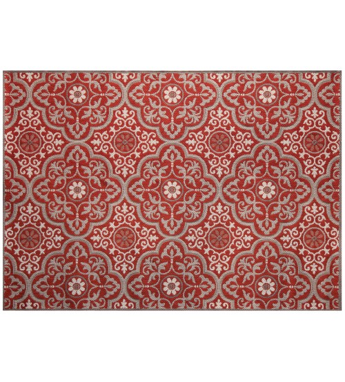 Outdoor Rug by Treasure Garden - Mosaic Ruby