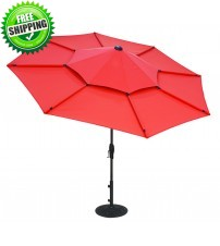 Treasure Garden 10' Lotus Collar Tilt Umbrella