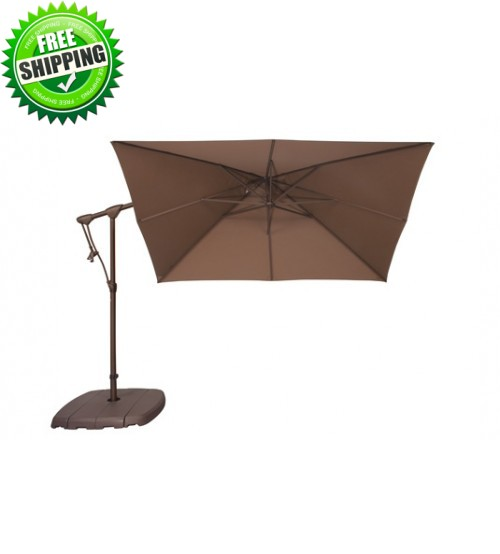 Treasure Garden 8.5' Square AG19SQ Cantilever Umbrella - Sunbrella