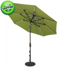 Treasure Garden 9' Starlux Collar Tilt Octagon Umbrella