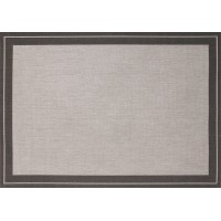 Outdoor Rug by Treasure Garden - Ebony & Charcoal Tweed