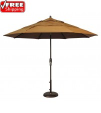 Treasure Garden 11' Octagon Market Umbrella Auto Tilt with SINGLE Wind Vent