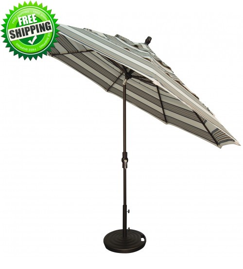 Treasure Garden 11' Collar Tilt Octagon Commercial Use Umbrella  - Frame only