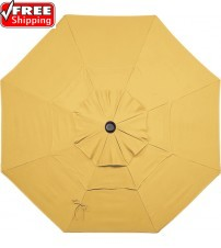TREASURE GARDEN 7X7 Square Replacement Umbrella Canopy - Sunbrella and OBravia