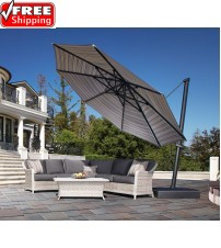 Treasure Garden 13' AKZP PLUS Cantilever Umbrella - Quick Ship