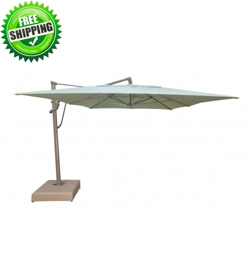 Treasure Garden 10' x 13' AKZPRT PLUS Cantilever Umbrella - QUICK SHIP