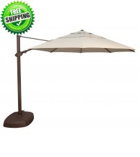 Treasure Garden 11 ft. Octagon Cantilever Umbrella