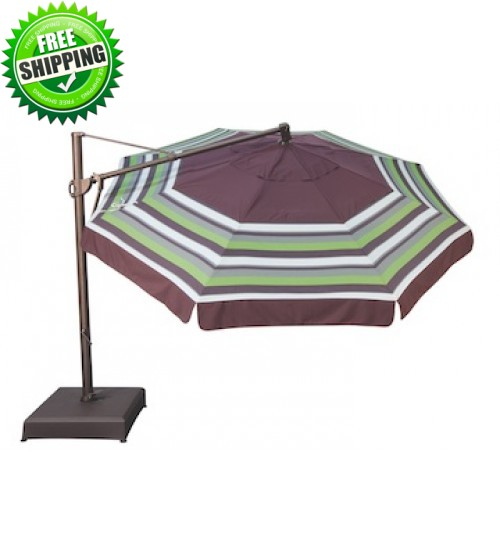 Treasure Garden 13' AKZ Octagon Cantilever Umbrella -  O'bravia Fabric (Polyester)