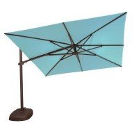 Treasure Garden 10' Square Cantilever Umbrella - Sunbrella