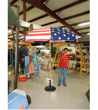 Texas Flag Umbrella with Fiberglass Ribs