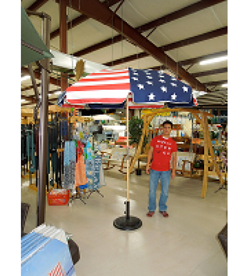 American Flag Umbrella with Fiberglass Ribs