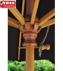 Galtech 9' Wood Market Umbrella - Frame Only