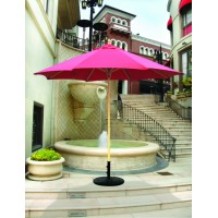 Galtech 136 - 9 FT Commercial Wood Market Umbrella / Single Pole