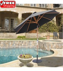 Gatech 9' Wood Rotational Tilt Umbrella - Frame Only