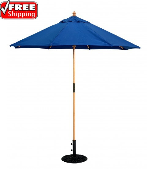 Galtech 121/221 - 7.5 FT Round Wood Café Market Umbrella