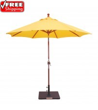 Galtech 239 - 9 FT Wood Market Umbrella  / Rotational Tilt