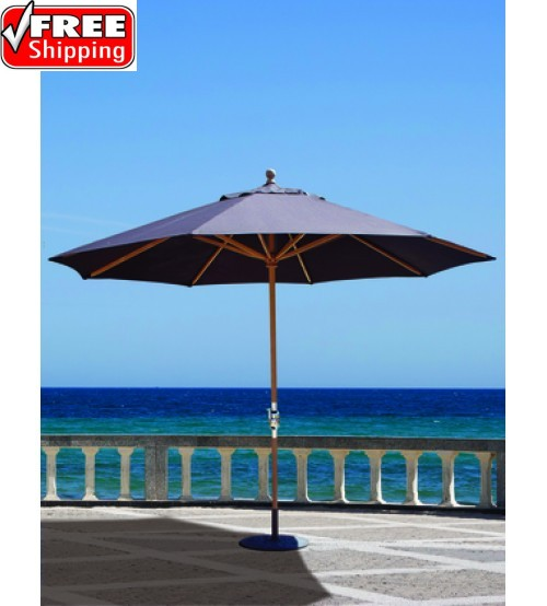 Galtech 11' Teak Market Umbrella - Frame Only