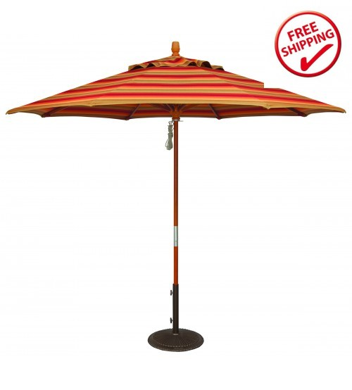 Treasure Garden 9' Wood Umbrella