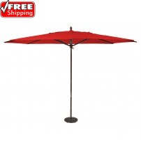 Galtech 8x11' Oval Wood Umbrella - Frame Only