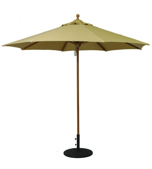 Galtech 9 Teak Market Umbrella Replacement Frame