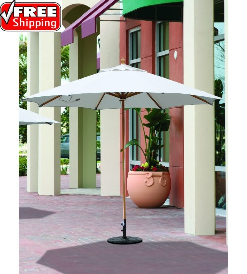 Galtech 183 - 11 FT Wood Market Umbrella