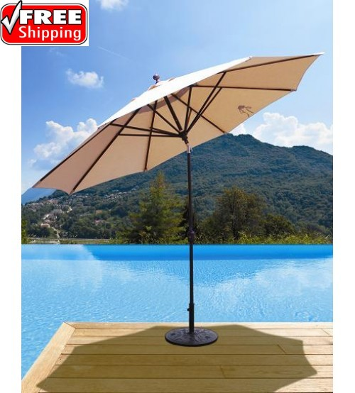 Galtech 789 - 11 FT Deluxe Auto Tilt Patio Umbrella