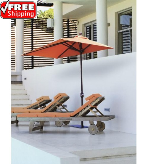 Galtech 772 - 3.5x7 FT Half Wall Commercial Patio Umbrella - CANOPY only