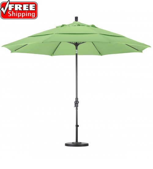 11 round fiberglass collar tilt patio umbrella frame only