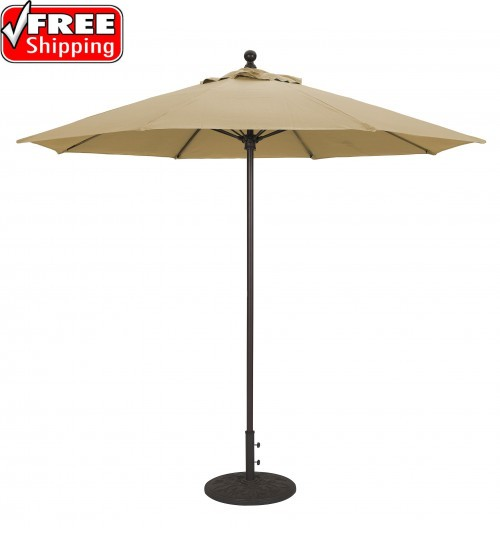 Galtech 735 - 9 FT Commercial Patio Umbrella Fiberglass Ribs