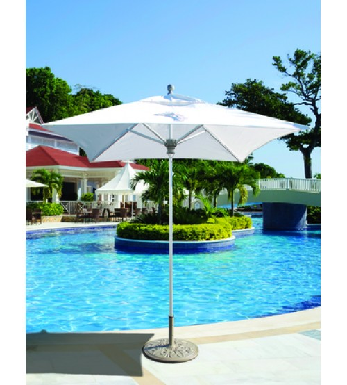 Galtech 762 - 6x6 FT Square Commercial Patio Umbrella ... - Compact Square Commercial Patio Umbrella - Galtech 6 FT Patio