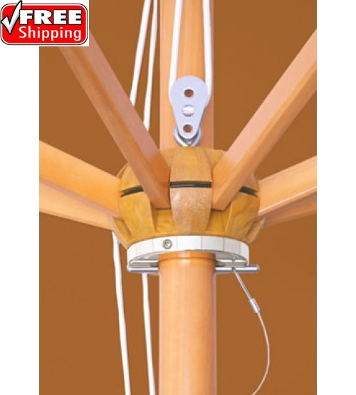 Galtech 11'  Wood Umbrella - Frame Only
