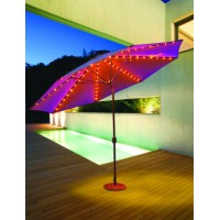 Galtech 986 - 11 FT Auto Tilt Patio Umbrella W/ L.E.D. Lights - Frame Only