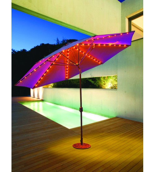 Galtech 986   11 FT Auto Tilt Patio Umbrella W/ L.E.D. Lights   Frame Only  ...