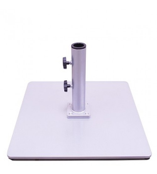 Galtech 85 LBS Square Commercial Umbrella Base - silver