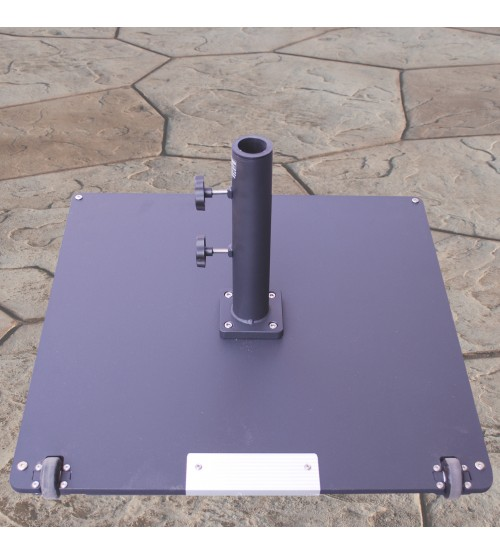 Delightful ... Galtech 95 LBS Square Commercial Umbrella Base W/ Wheels   Black ...