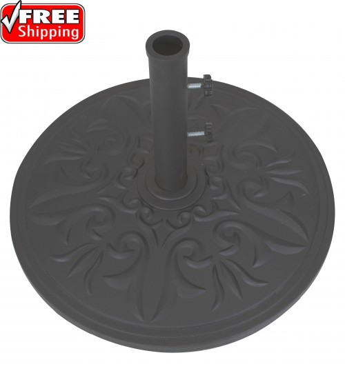 Galtech 75 LBS Cast Aluminum Umbrella Base